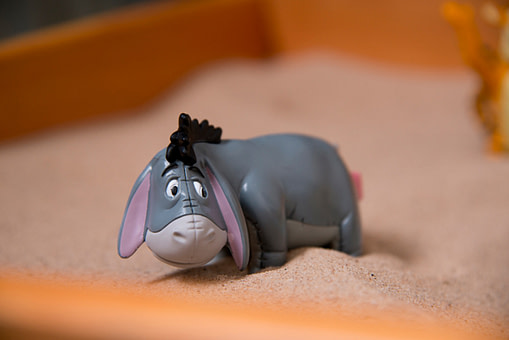 eeyore figure sand tray intro trauma therapy