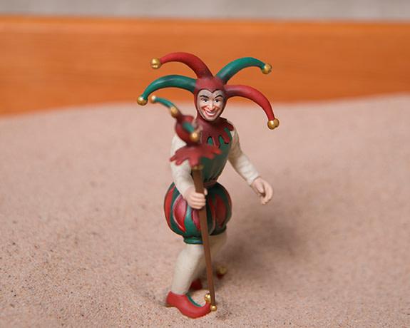 jill carter sandplay jester figurine