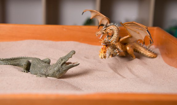 sandplay therapy crocodile and dragon